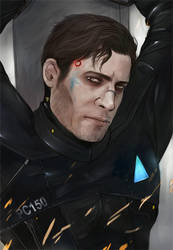 Android Gavin colored bust by Everybery