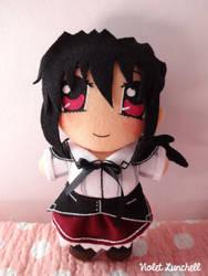 High School DxD Akeno Himejima plushie by VioletLunchell