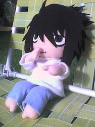 Death Note - L plushie 1 by VioletLunchell