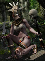 The tribal witch by HAL001