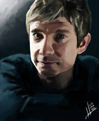 Martin Freeman Digital Painting by superfizz