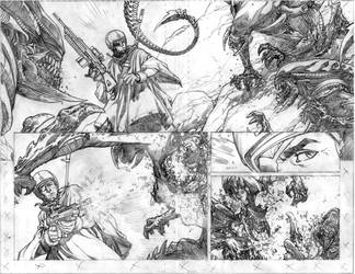 Aliens page 2-3 pencil by Spacefriend-KRUNK