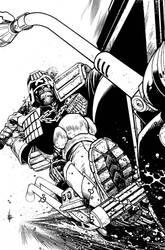 Judge Dredd cover 2 by Spacefriend-KRUNK