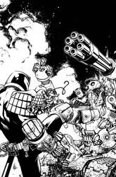 Judge Dredd cover 3 by Spacefriend-KRUNK