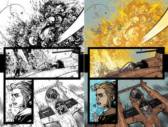 Wild Blue Yonder Issue 6 Page 11 Process by Spacefriend-KRUNK