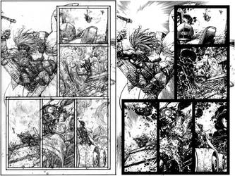 Wild Blue Yonder Issue 6 Page 18 Pencils and Inks by Spacefriend-KRUNK