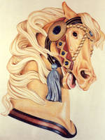 Golden Carousel Horse by stlcrazy