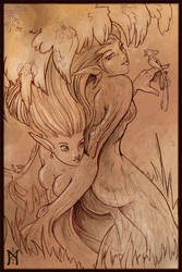 Dryads - Sketch by domkitty