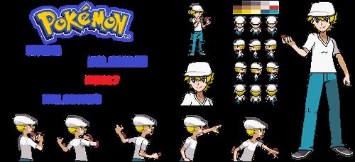 Pokemon (OC) Hiyoko Trainer Sprite by mid117