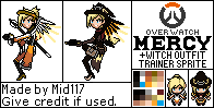 (Halloweek Day 4) OverWatch Mercy Trainer Sprite by mid117