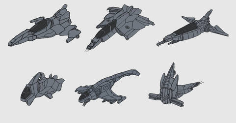 Space Ship Sketchs by Dr--Maniacus