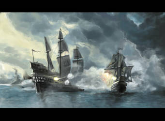 Ships battle by L1nKz