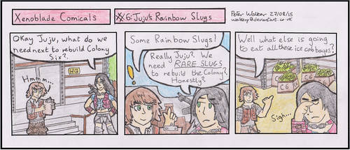 Xenoblade Comicals #6: Juju's Rainbow Slugs by WalkerP