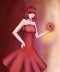[OC] Red Devil/Inner Self by SanYona