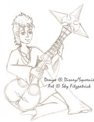 Demyx sketch by TwilightFalcon