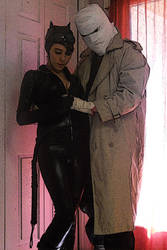 Catwoman and Hush cosplay by xxtrendkillxx