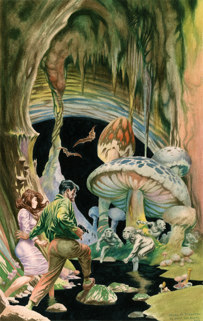 Frank Frazetta Watercolor Study by jbyrd117