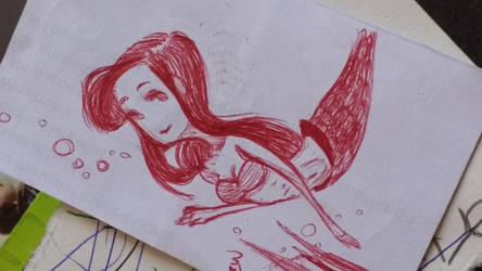Little Ariel Doodle. by Littl3Mu2icB0x