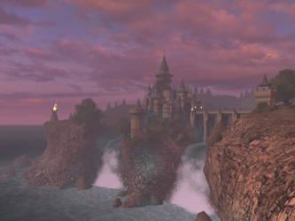 Fantasy castle background 4 by indigodeep