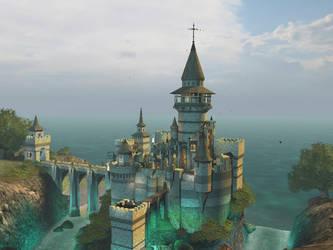 Fantasy castle background 6 by indigodeep