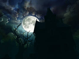 Haunted house background 14 by indigodeep
