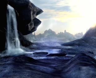 Waterfall background by indigodeep