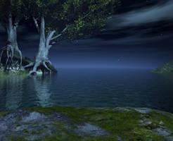 Lake background by indigodeep