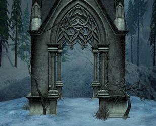 Winter chapel light by indigodeep
