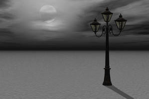 lamppost background by indigodeep