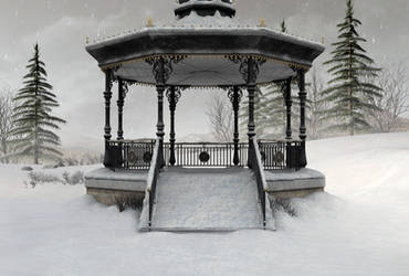 Winter scene background by indigodeep