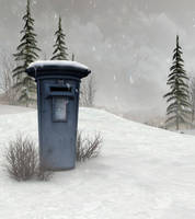 winter post background by indigodeep