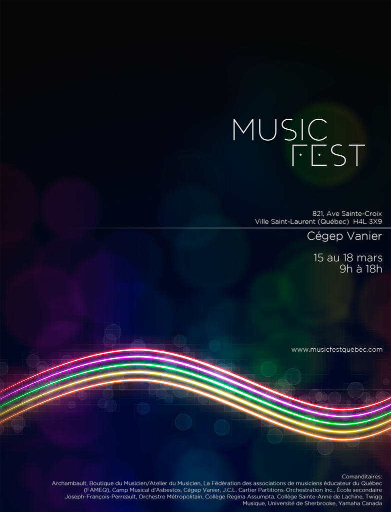 MusicFest Poster by xposedbones