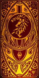 Black Dragon Tapestry by SkullSmithy