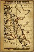 Elder Scrolls: Map of East Keizaal by SkullSmithy