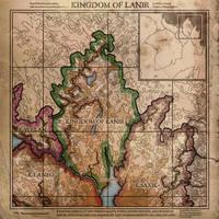 Current Work - Digital: Kingdom of Lanir Map by SkullSmithy