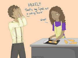 Hazel accidentally destroys technical things by IVDP