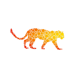 Vector cheetah made from bubbles by messtwice