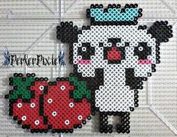 Strawberry Panda Chef by PerlerPixie