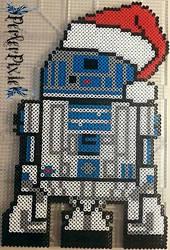 Santa Hat R2 D2 by PerlerPixie