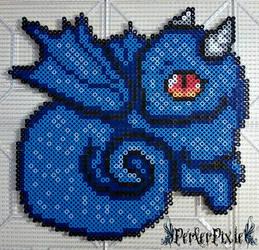 Blue Baby Dragon by PerlerPixie