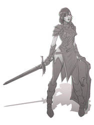 Knight Sketch 3 by Koyorin
