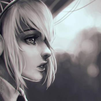 Aigis Portrait Warmup by Koyorin