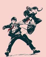 Fight Sketch by Koyorin