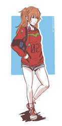 Asuka Sketch by Koyorin