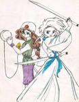 Ecuna and Katanaku by HunterK