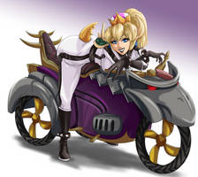 Bowsette for Mario Kart by FieryJinx