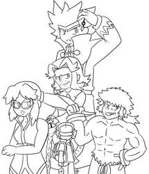 Elite 4 Line Art by Bros-Productions