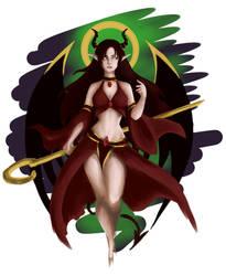 Valeria - Demonic Priestess skin  by Dominaiscna