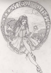 lolita snow white sketch by DarkDevi