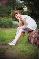 Her wooden leg II by Basistka